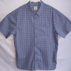 Yacht Party Blue Button Up By Voyager
